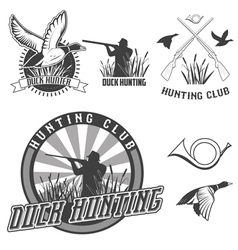 Duck hanting vector
