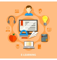 E learning colored composition vector