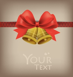 Greeting cards with red bows vector image
