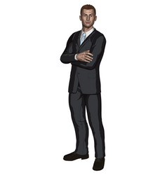 handsome young businessman vector image