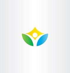 healthy yoga man icon logo vector image