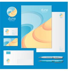 Identity sea dune logo spa resort vector