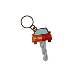Key ring in car shape vector