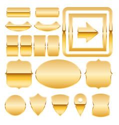 metal plates vector image