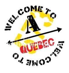 Quebec stamp rubber grunge vector