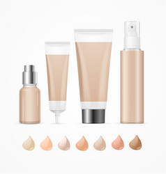 Realistic empty template foundation cream package vector