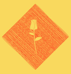 Rose sign red scribble icon vector