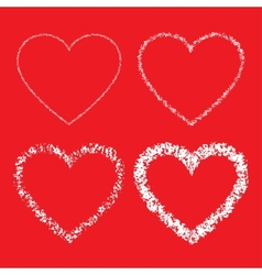 Set of Hand Drawn Grunge Hearts vector image vector image