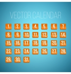 Set of Photorealistic Calendar Icons from vector image
