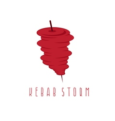 Simple flat of storm doner kebab vector