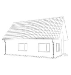 sketch of the cottage vector image vector image
