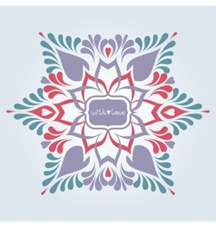 Soft ornate background vector