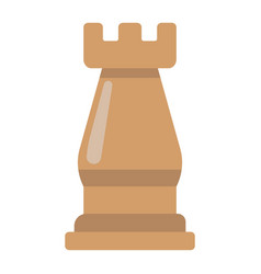 Strategic plan flat icon business and rook chess vector