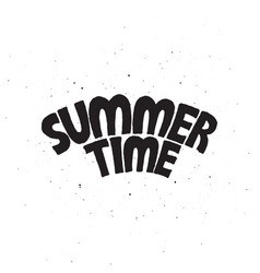 Summer time lettering text vector
