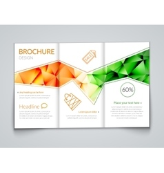 Tri-fold modern brochure design template with vector
