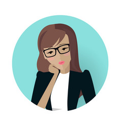 Userpic of a business lady woman at work icon vector
