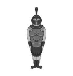 Roman soldier icon black monochrome style vector