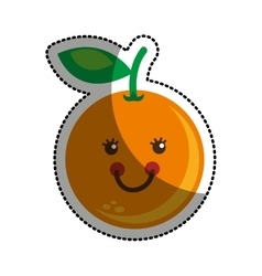 Fruit character comic icon vector