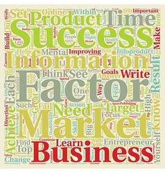 Success factors of wealthy infoproduct marketers vector