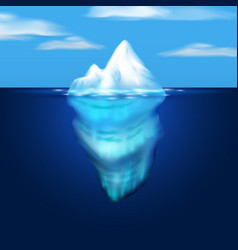 Iceberg  block of ice in the sea vector