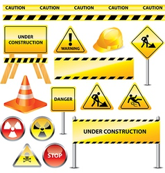 Icons warning vector