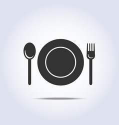 Fork spun plate icon vector