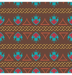 Retro ethnic oriental seamless pattern vector image