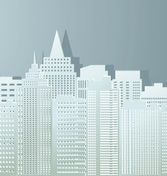 Contour of buildings of the city from paper vector