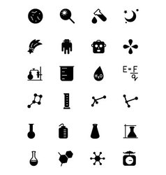 Science solid icons 5 vector