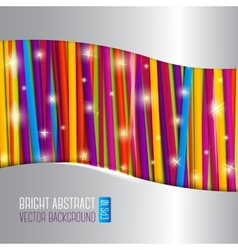 Abstract bright background with colorful laces vector
