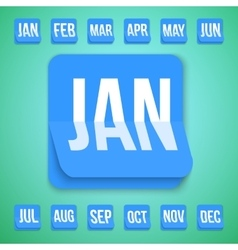 Realistic calendar icon made in trendy flat vector