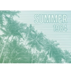 Retro summer poster vector