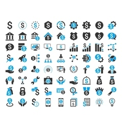 Financial business icon set vector