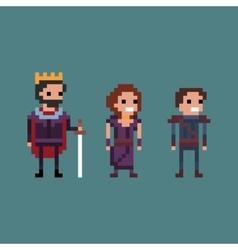 Pixel art retro 8 bit fantasy vector image