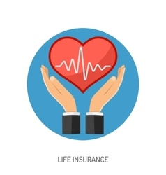 Insurance Flat Icons vector image