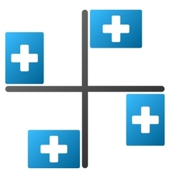 Hospital flags gradient icon vector