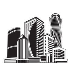 Buildings high-rise cityscape vector