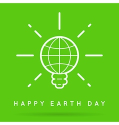 Earth day eco day vector