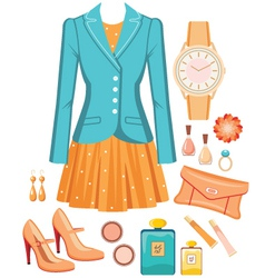 Fashion set vector