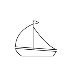 Yacht icon outline vector