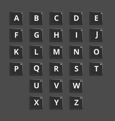 alphabet plastic tiles for puzzling words vector image