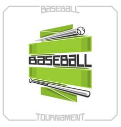 baseball club vector image vector image