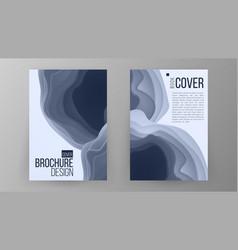 brochure design magazine poster annual vector image