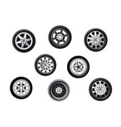 Car tyres set vector image vector image