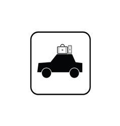car with bag black vector image