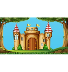 Castle towers in the field vector