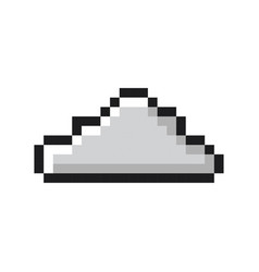 cloud pixel art cartoon retro game style vector image vector image