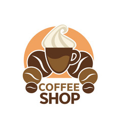 Coffee shop cafeteria or cafe icon vector