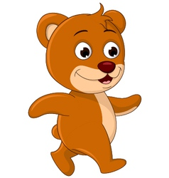 cute Bear cartoon walking vector image vector image