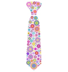 floral tie on white background vector image